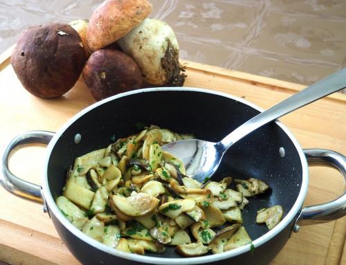 Porcini mushrooms, garlic and parsley